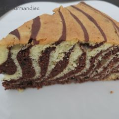 Gâteau marbré zèbre
