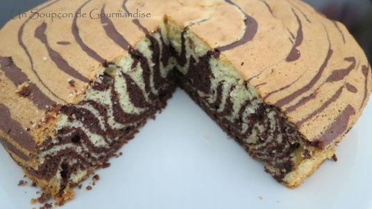 Gâteau marbré zèbre 20